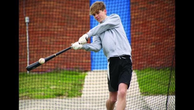 Graden Hammond gets in a few cuts while trying to stay loose for the season.