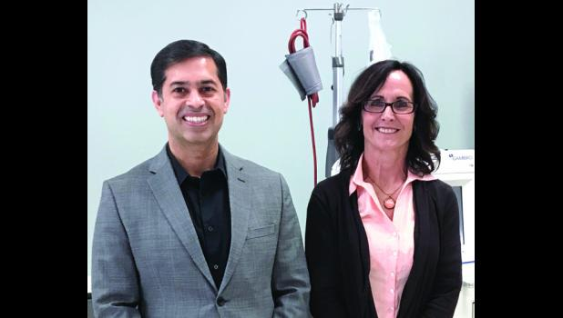 Dr. Shahzad Shafique, Medical Director of Nephrology and Trish Schieber, Managing RN for renal dialysis.