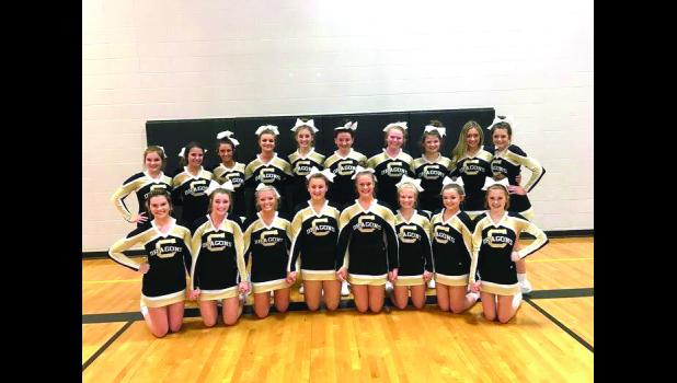 Photo: Front row: Leah Benedict, Jaycie Hutchinson, Abby Ourth, Bayleigh Moore,  Margaret Dice, Lauren McBee, Jazmine Jorgensen, Gracia Edwards Back row: Christina Herring, Hannah Cline, Riley Zeit, Aly Yates, Matti  Ramsey, Parker Sample, Madi Riley, Kendall Hulet, Bailey Bennett, Kierstin  Edwards