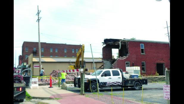 Demolition of the former Furniture Depot in Cameron has begun. According to City Manager Mark Gaugh, it has taken two years moving through the process to have the building removed, which was a dangerous structure according to the Dangerous Structures ordinance.