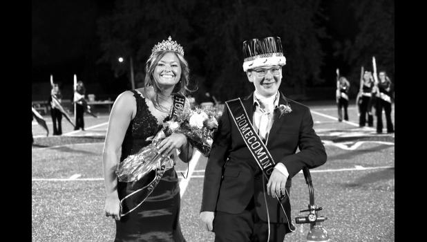 Shown here are homecoming queen Alisha Neal and  king Kyle Patterson