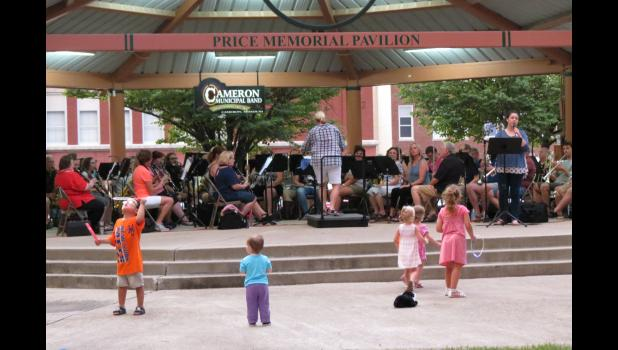 The Cameron Municipal Band concert on Thursday, July 13 featured many talents from the Cameron Area.