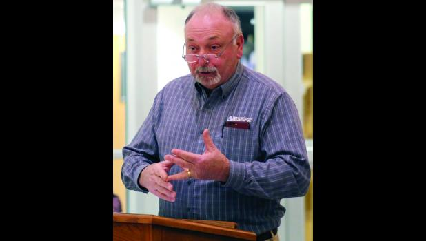 Former Cameron Wastewater Plant Director Verlin Persinger discuses potential issues with EPA regulators.
