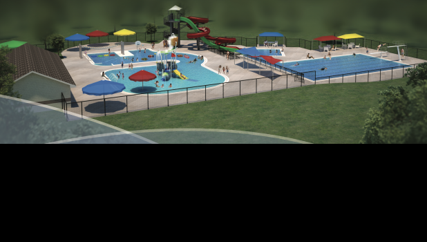 Shown here is a design for the new Cameron Aquatic Center.