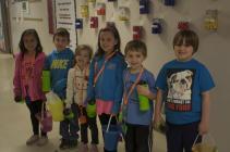 Kindergarten: Cassidy Stuedle, Owen Eivins, Gabrielle Gerstenberger, Carrigan Stuedle, Cooper Jones, Charles Slaughter