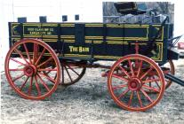 "The ""BAIN"" wagon in the photograph was recently sold at the Boone County Draft Horse and Machine Sale by Sam Grinstead of Cameron"