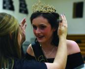Cameron senior Madison Thogmartin receives her crown Monday.