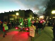 Photo: Boy Scout Float at the Christmas parade