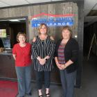 Pictured with Karen Chaney (center) is Linda Galloway (left) and Lisa Volz (right).