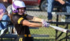 MaKayla Proven drives in a pair of runs Thursday against Bishop LeBlond.