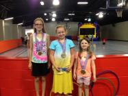 Brianna Sykes was the 1st place winner with 15,200 minutes read, Audrey Brownlee was second with 2,200 minutes and Kristi Morris was third with 2,000 minutes read this summer.