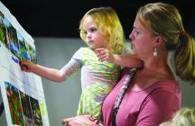 Rosie Arndt and mother Juliana pick splashpads for the amenity they would most like to see.