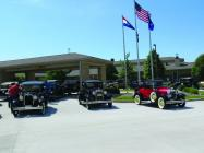 The Northwest Missouri Model A Car Club provided a car show at the Missouri Veterans Home of Cameron in honor of Armed Forces Day.