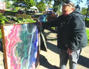 Cameron artist Suzi Fulton hopes to find a financial backer while showcasing her paintings.