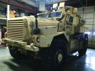 Shown here is the CPD's MRAP, obtained through a Dept. of Defense grant.