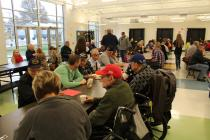 Veterans enjoy breakfast at Cameron Veterans Middle School