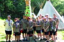 The British contingent of Scouts in their campsite, Short Arrow at Camp Geiger.