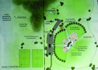 The Cameron Parks Board shows the first concept of a proposed city park slated for the April ballot.