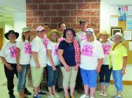 City employees show their support with the Team Tammie shirts and their hats. Mark Gaugh, Tim Hamilton, Drew Bontrager, Rae Flinn, Amy McVicker, Carmen Weigand, Pam Korneman, Tammie Schmitz, Glenda Atkinson, Barbara O'Connor, Dixe, and Dixie Masters.