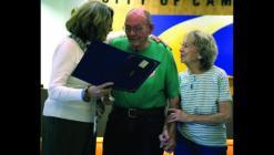 Then Mayor Darlene Breckenridge presents a proclamation to retired firefighter Ike Taylor last October.
