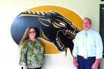 Photo by Annette Bauer Angie Ormsby, Principal of Parkview Elementary and Brett Jones, Principal of Cameron High School.