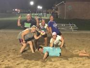 Photo submitted Tean N-UR-FACE were the overall winners of the volleyball tournament.