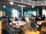 Local award winning harmonica player AJ Windmeyer entertains guests at Senior Center fundraiser Wednesday evening