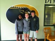 (L-R): State Track qualifiers Khayla Hollingsworth, Morgan Choate, and Joe Zinkand.